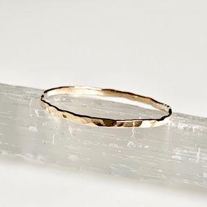 14KGF 1 Skinny Stacking Ring
